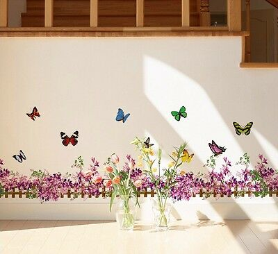 Removable Art Vinyl Quote DIY Wall Sticker Decal Mural Home Room Decor flower A