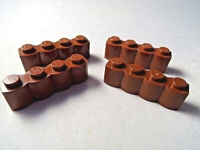 LEGO Part 30137 marron 1 x 4 modifié 1 x 4 Log Brique X 4