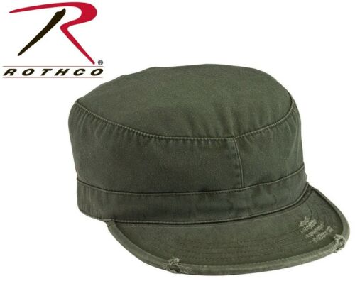 US Army Uniform Patrol Cap Washed Rothco Vintage Military Fatigue Hat Fitted
