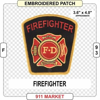 "5/"" Diameter  Free Shipping!! First Responder Fire Department Firefighter Patch"
