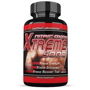 Xtreme-5000-Extreme-Arginine-Nitric-Oxide-Glutamine-Muscle-Pump-60-Caps