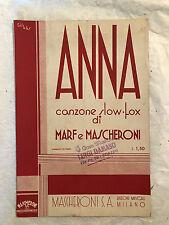 SPARTITO MUSICALE ANNA MARF E MASCHERONI SLOW-FOX 1936