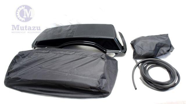 Premium Mutazu 6 x 9 Speaker Lids Vivid Black for Harley Touring Saddlebags 1B