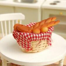 1/12 Miniature Bread Toast on a Basket Dollhouse Kitchen Food Bakery Pastry