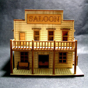 Salon Wooden Model Kit Diorama 3D HO Scale Wood Miniature Gifts Toys ...