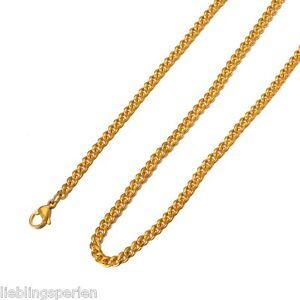 1-Edelstahl-Kette-Halskette-Gliederkette-Halsschmuck-Vergoldet-55cmx3-6mm-L-P