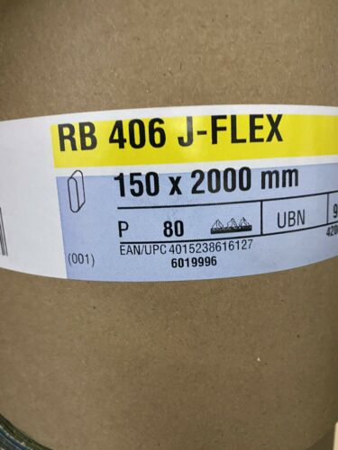 10x Hermes RB 406 J-Flex  150x2000mm Schleifband Schleifbänder neu Korn 80