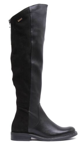 Knee Matt Boots Size 3 Leather Reece Black Over Women Uk Justin 8 1750 I60vw8Zx
