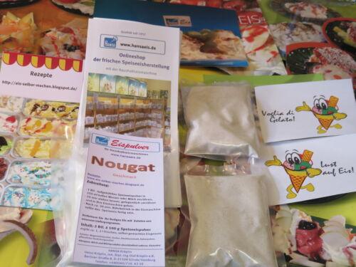 glace faire toi-même Nougat eispulver pour Budget Eismaschinen 1,30 €//100 g