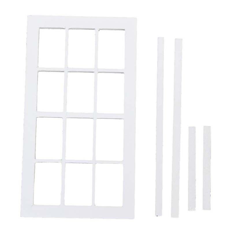 5X(1 12 Scale Wooden Window Miniature Dollhouse 12 field Window Wooden frame Weiß O7D2) 1ff440