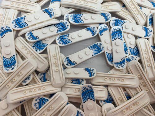 Lego 18746-Nouveau Bleu /& Blanc Sports D/'hiver Snow Board avec imprime//Figurine