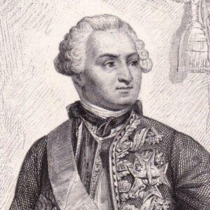 Portrait-XIXe-Ulrich-Frederic-Woldemar-Comte-de-Lowendal-Siege-de-Bergen-op-Zoom