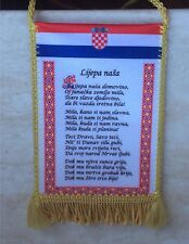 Ljepa nasa Domovino Wimpel Croatia Hrvatska  Za dom spremni Kroatien Hrvatska