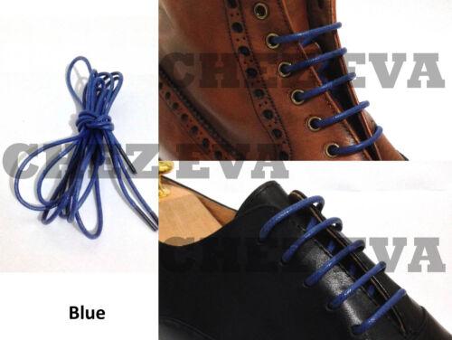 multi color cotton waxed round cord dress shoe laces 4 lengths 70//80//100//120cm