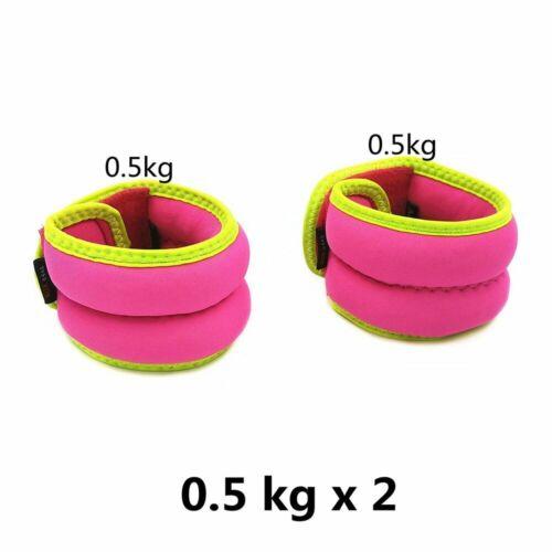 Ankle Wrist Hand Leg Weights Women Fitness Iron Sand Bag Straps Walking Gym