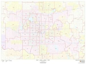Details about Oklahoma City, Oklahoma ZIP Codes Laminated Wall Map (MSH)