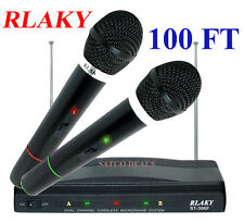 RLAKY Twin Wireless Cordless Microphone Set Receiver For DJ MIC KARAOKE PRO GIFT