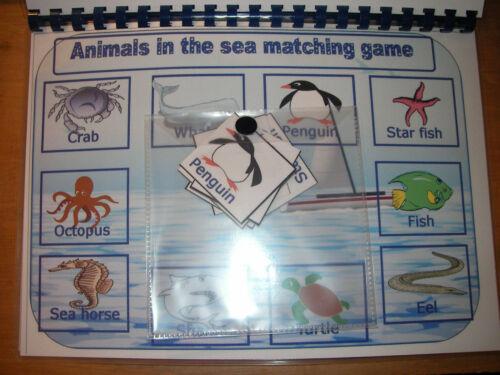 Mon livre de animal correspondant à quatre jeux besoins spéciaux//Autisme FREE POST