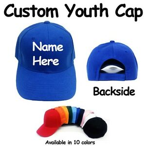 a2019788c Details about Personalized Youth Baseball Cap Hat Custom Embroidered **Make  Your Own**