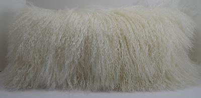 Real Genuine Mongolian Tibetan Lamb Fur Natural Pillow made in usa Tibet cushion