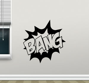 Image Is Loading Bang Superhero Wall Decal Pow Boom Comics Batman