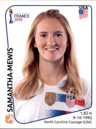 USA Panini Frauen WM 2019 Sticker 416 Samantha Mewis