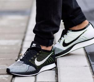 *New* Nike Flyknit Racer Men's Size 6.5-7 (Women's 8.5-9) Black/White 526628-011