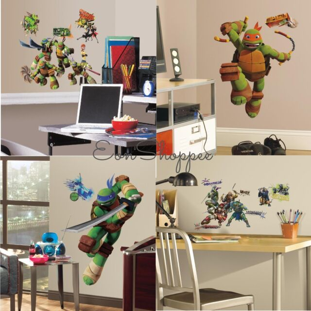 Boys Favorite Wall Decals Collection On EBay - Ninja turtle wall decals