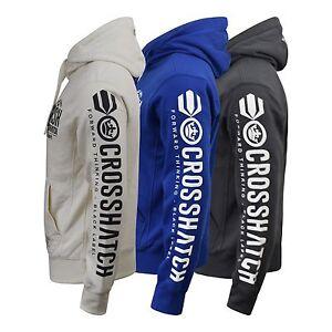 Mens-Hoodie-Crosshatch-Bringer-Sweater-Fleece-Lined-Sweatshirt-S-XXL