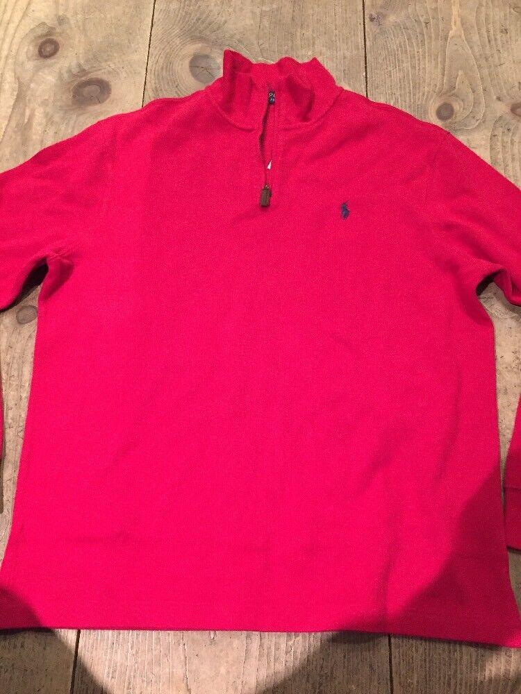 Polo Ralph Lauren  Herren Classic RL ROT 1/4 Zip Sweater - 98 - Größe XL NWT