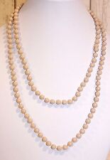 Kette lang NEU Halskette Perlen Perlenkette beige elegant Kugeln Retro 20er