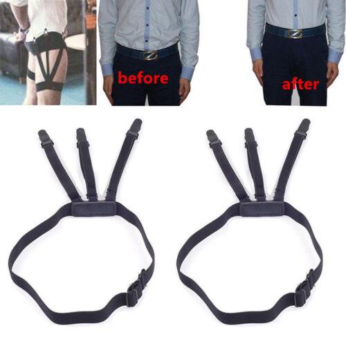1 Pair  Shirt Stays Mens Garters Suspenders Military Uniform Holder Sock