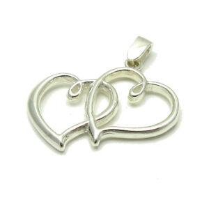 Das Beste Silber Anhänger 925 Zwei Herzen Pe001082 Empress Echtschmuck