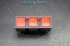 3 PCS ROCKER SWITCH DPDT ON OFF ON TOGGLE 15 AMP 250V 20 AMP 125V 6 PIN EC-2636