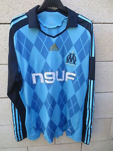 Maillot-OM-MARSEILLE-2009-ADIDAS-shirt-FORMOTION-Stock-Pro-manches-longues-L