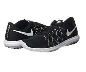 146e7aafa259d Nike Women s Flex Fury 2 Running Shoe Black Wolf Grey White Size 9.5 ...