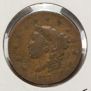 1837 1c Coronet Head Large Cent SKU-Y2551