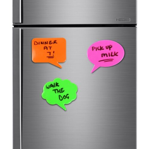 3x MEMO FRIDGE MAGNETS Dry Easy Wipe Family Home Kitchen Reminder Planner Note