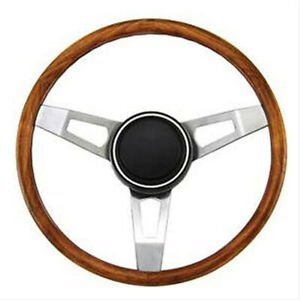 Cuda-Barracuda-Road-Runner-Fury-Tuff-wood-steering-wheel-15-034-mark-in-grip