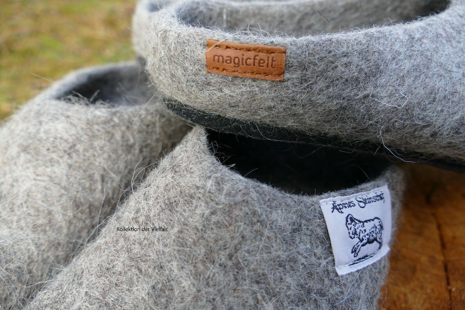 Filzpantoffeln Gr. 44 in naturgrau 100%heimischer aus 100%heimischer naturgrau Schafwolle 7e90ef