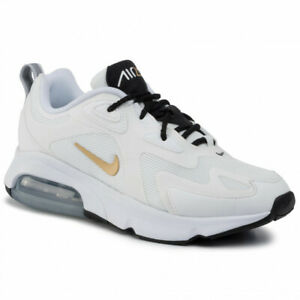 New-Mens-Nike-Air-Max-200-in-White-Metallic-Gold-Black-Colour-Size-13