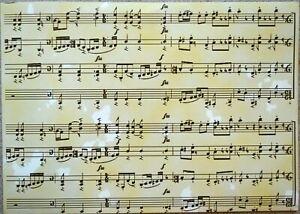 2-X-A4-Paisaje-Musica-Puntuacion-Patron-en-Crema-120gsm-Apoyo-Papel-de-Nuevo