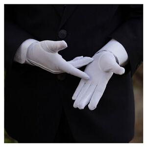 10 Pair Men White Formal Gloves Tuxedo Honor Guard Parade Santa Inspection Glove
