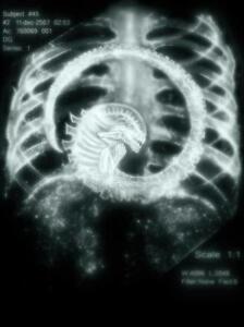 ALIEN cool x ray baby xenomorph face hugger T SHIRT Men's ...