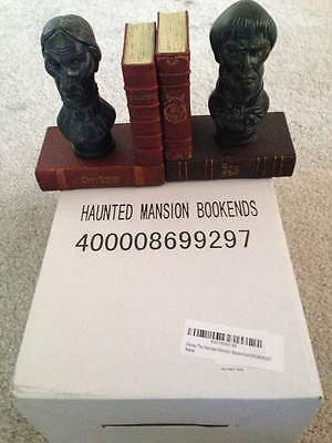 HAUNTED MANSION Sculpted Bookends Set by Disney ~Exclusive 45th Anniversary