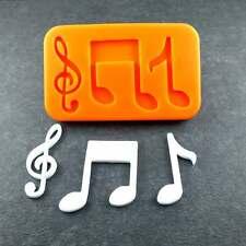 Silikonform Noten Musik Notenschlüssel  Silikon Mould Fondant Tortendeko