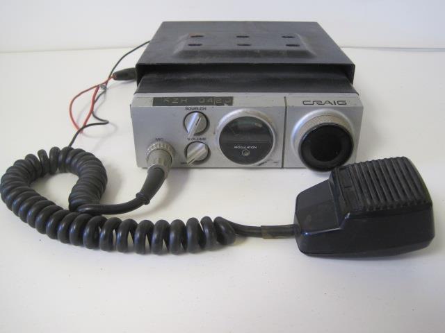 Vintage Craig 23 Channel CB Model #4102 Radio Mobile
