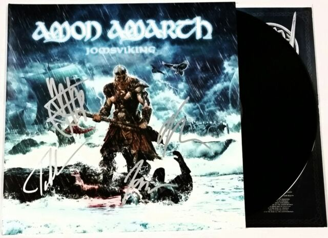 AMON AMARTH SIGNED JOMSVIKING 2x LP VINYL RECORD ALBUM W/ VIKING SHIP + COA