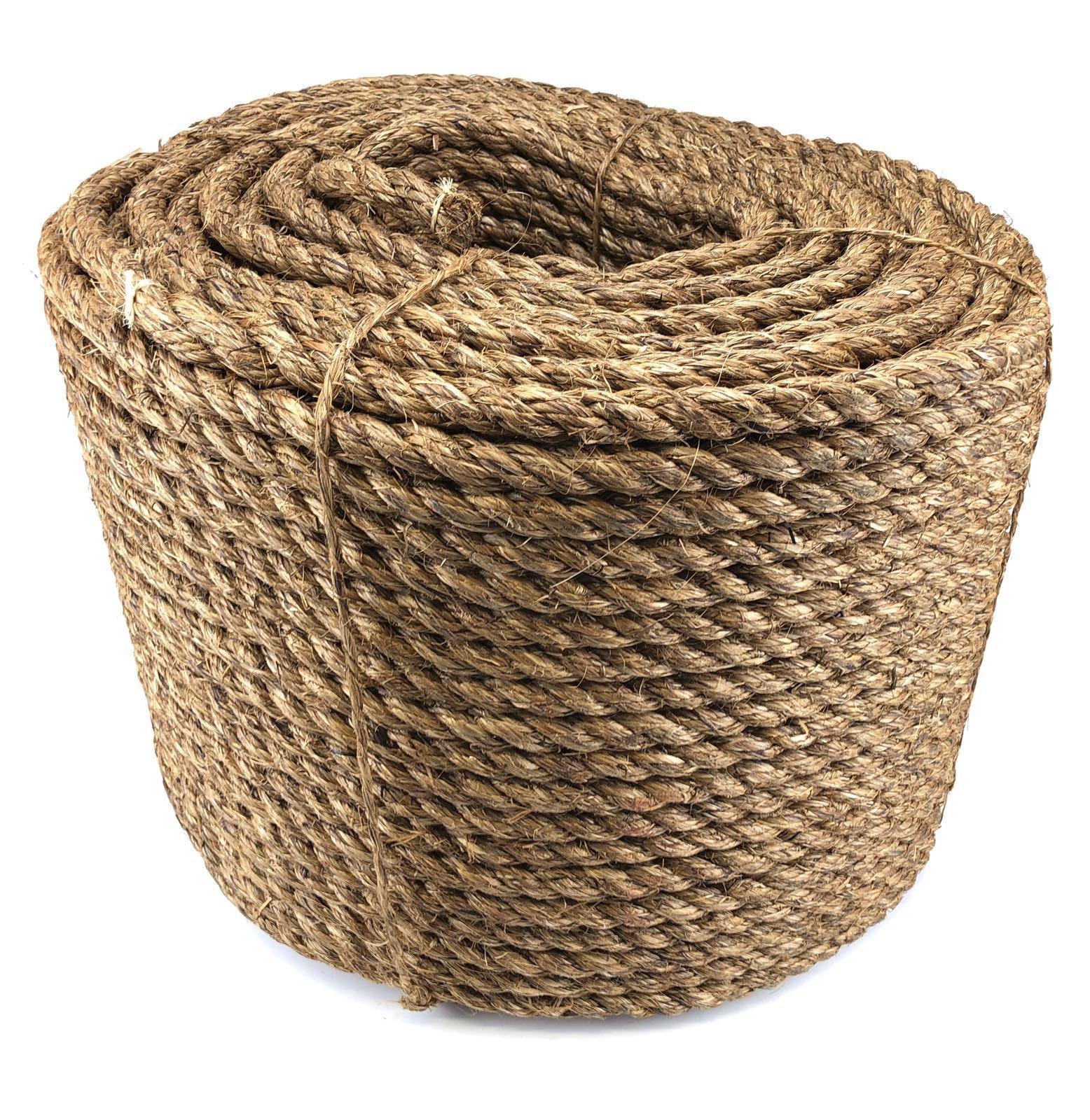 8mm Natürlicher Manila Seil, Natürlich Fasern für Kotflügel Terrassendielen   | Qualität und Verbraucher an erster Stelle  | Kaufen  | Starke Hitze- und Abnutzungsbeständigkeit