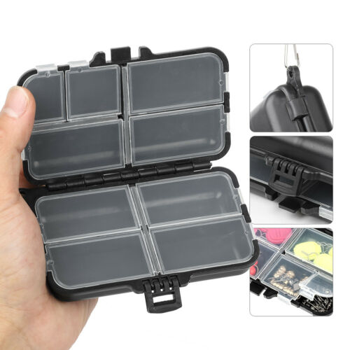 Fishing Lure 12 Grid Compartments Storage Case Spoon Hook Bait Tackle Tool Box